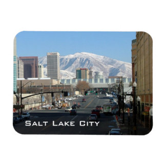 Panoramic View of Salt Lake City Magnet