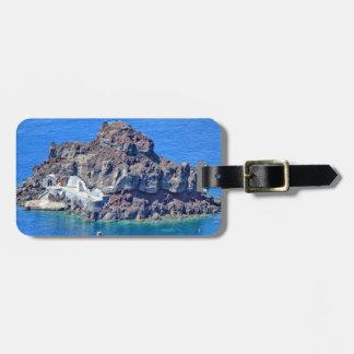 Panoramic view of Santorini Bag Tag