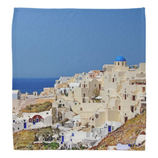 Panoramic view of Santorini Bandanas