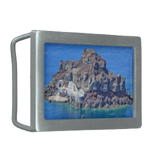 Panoramic view of Santorini Belt Buckles