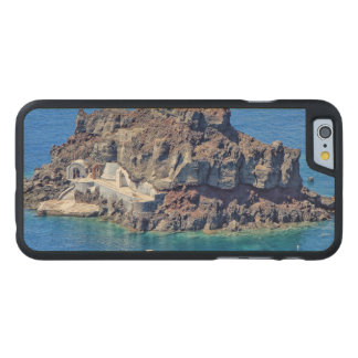 Panoramic view of Santorini Carved® Maple iPhone 6 Slim Case