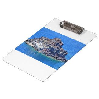 Panoramic view of Santorini Clipboard