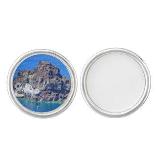 Panoramic view of Santorini Cufflinks