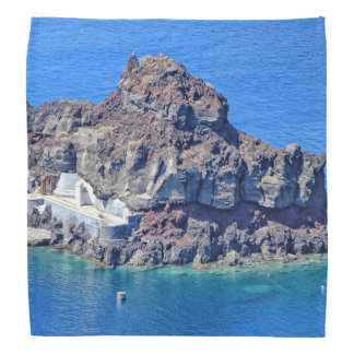 Panoramic view of Santorini Head Kerchief