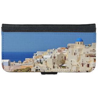 Panoramic view of Santorini iPhone 6 Wallet Case