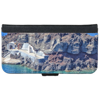 Panoramic view of Santorini iPhone 6 Wallet Case