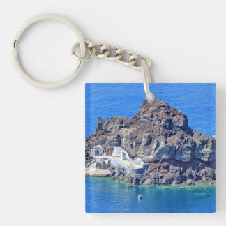 Panoramic view of Santorini Keychain