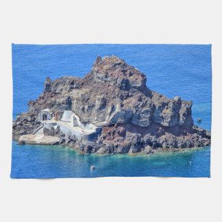 Panoramic view of Santorini Kitchen Towel