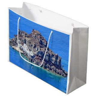 Panoramic view of Santorini Large Gift Bag