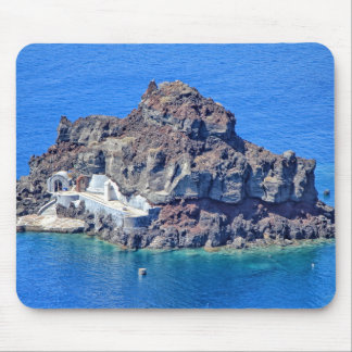 Panoramic view of Santorini Mouse Pad
