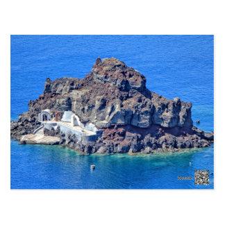 Panoramic view of Santorini Postcard