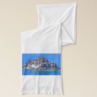 Panoramic view of Santorini Scarf