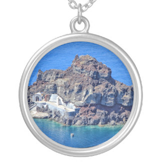 Panoramic view of Santorini Silver Plated Necklace