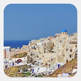 Panoramic view of Santorini Square Sticker
