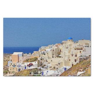 Panoramic view of Santorini Tissue Paper
