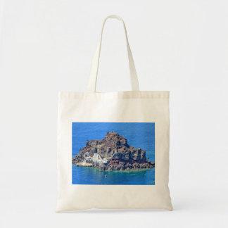 Panoramic view of Santorini Tote Bag