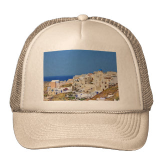 Panoramic view of Santorini Trucker Hat