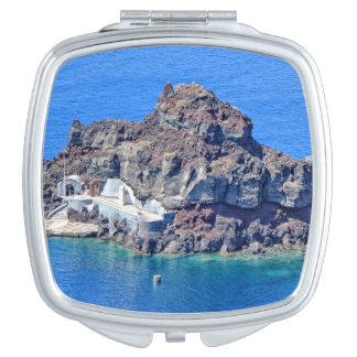 Panoramic view of Santorini Vanity Mirror