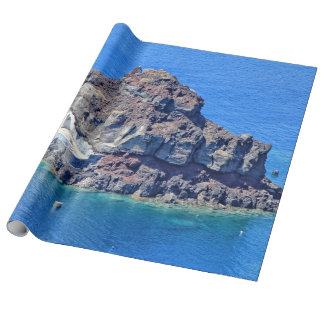 Panoramic view of Santorini Wrapping Paper