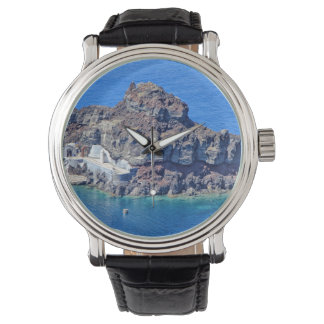 Panoramic view of Santorini Wristwatch