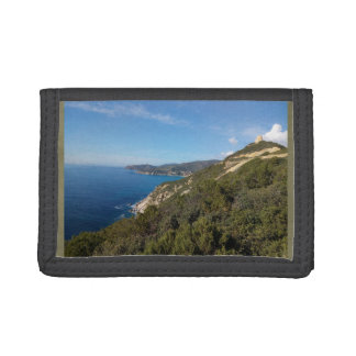 Panoramic view of Sardinia sea Tri-fold Wallet