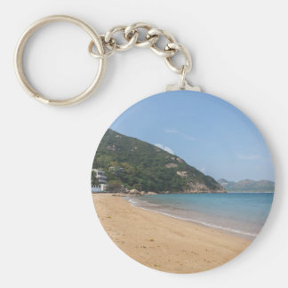 Panoramic view of Sok Kwu Wan Lamma Island Basic Round Button Keychain
