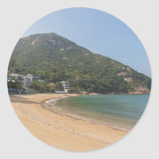 Panoramic view of Sok Kwu Wan Lamma Island Classic Round Sticker