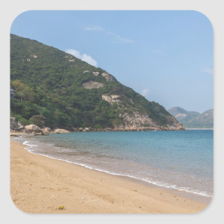 Panoramic view of Sok Kwu Wan Lamma Island Square Sticker