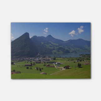 Panoramic view of Spiez Post-it® Notes