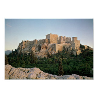 Panoramic view of the Acropolis Poster