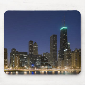 Panoramic view of the Chicago lakefront at dusk, Mouse Pad