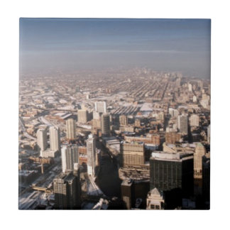 Panoramic view of the city ceramic tile