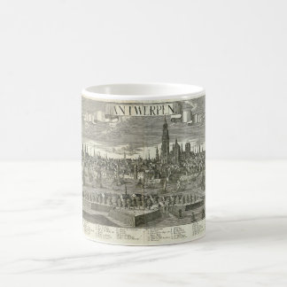 Panoramic View of the City of Antwerpen in 1730 Coffee Mug