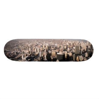 Panoramic view of the city skate board decks