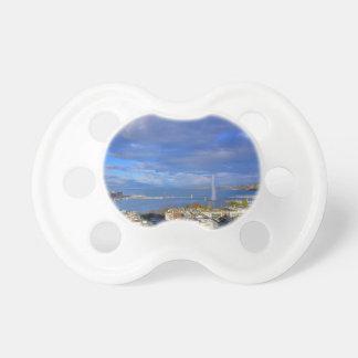 Panoramic view of the Geneva water jet Baby Pacifier