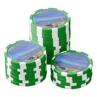 Panoramic view of the Geneva water jet Poker Chips