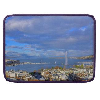 Panoramic view of the Geneva water jet Sleeve For MacBooks