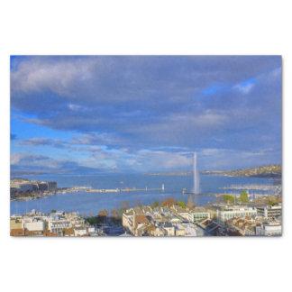 Panoramic view of the Geneva water jet Tissue Paper