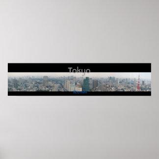 Panoramic View of Tokyo Poster