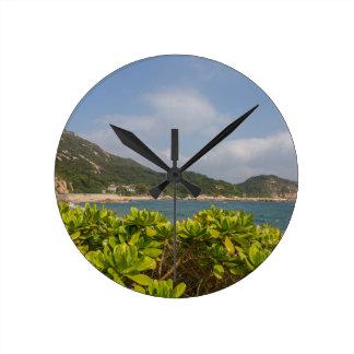 Panoramic view of Tung O Village Lamma Island Round Clock