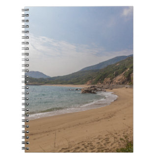Panoramic view of Tung O Village Lamma Island Spiral Notebook