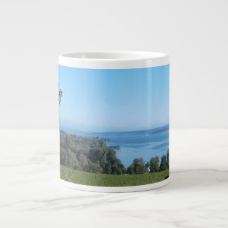Panoramic View over Lake Constance Large Coffee Mug