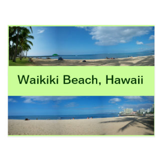Panoramic Views of Waikiki Beach Hawaii Postcard