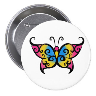 Pansexual Butterfly 3 Inch Round Button