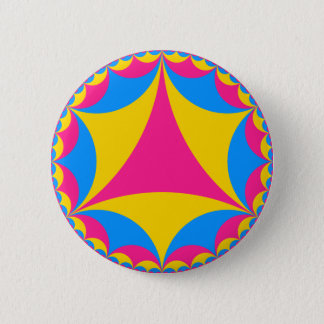 Pansexual flag fractal 2 inch round button