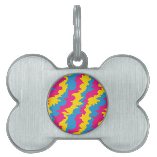 Pansexual Flag Patterns Pet ID Tag