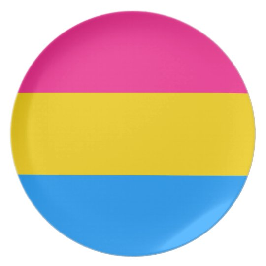 Pansexual flag plate
