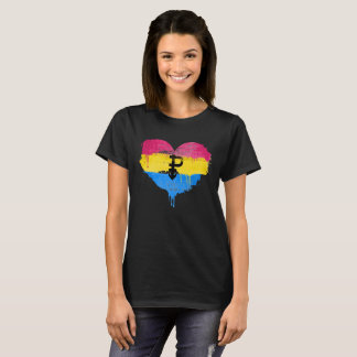 PANSEXUAL HEART - PANSEXUAL LOVE - SYMBOL - T-Shirt