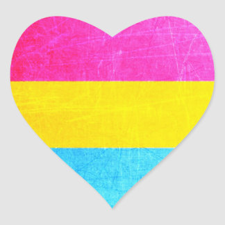 Pansexual Heart Stickers