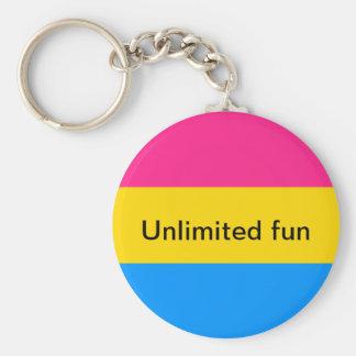 Pansexual key chain